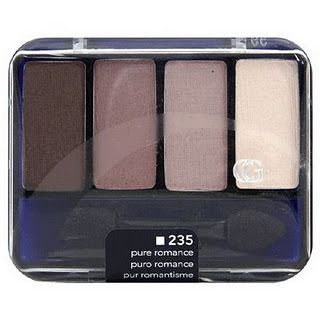 Pure Romance by Covergirl. I wear this ALOT. The colors are really matte, and look nice. They're natural looking enough to wear on a daily basis. I recommend. :)