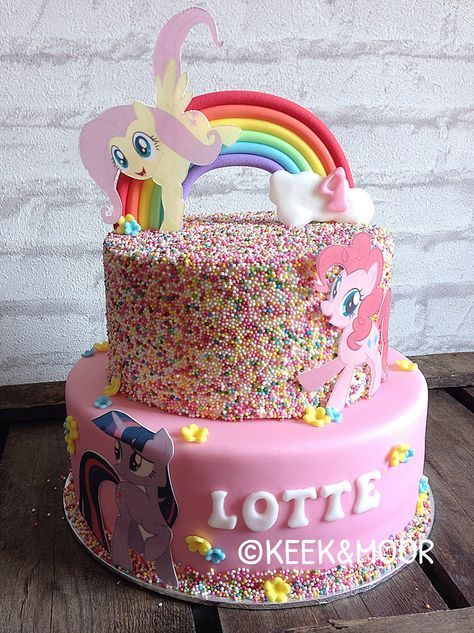 My Little Pony cake with sprinkles!