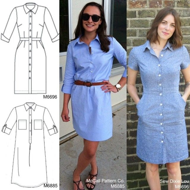 Summer 2014 essential: the shirtdress. Try McCall's 6696 or 6885, both popular favorites. #summerdress