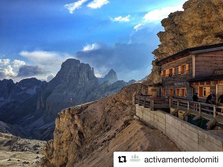 Hut to hut... Dolomites  #Repost @activamentedolomiti