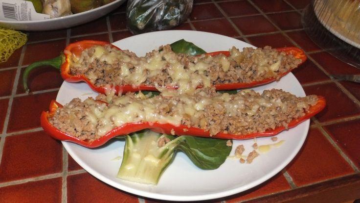Turkey Stuffed Sweet Pointed Peppers