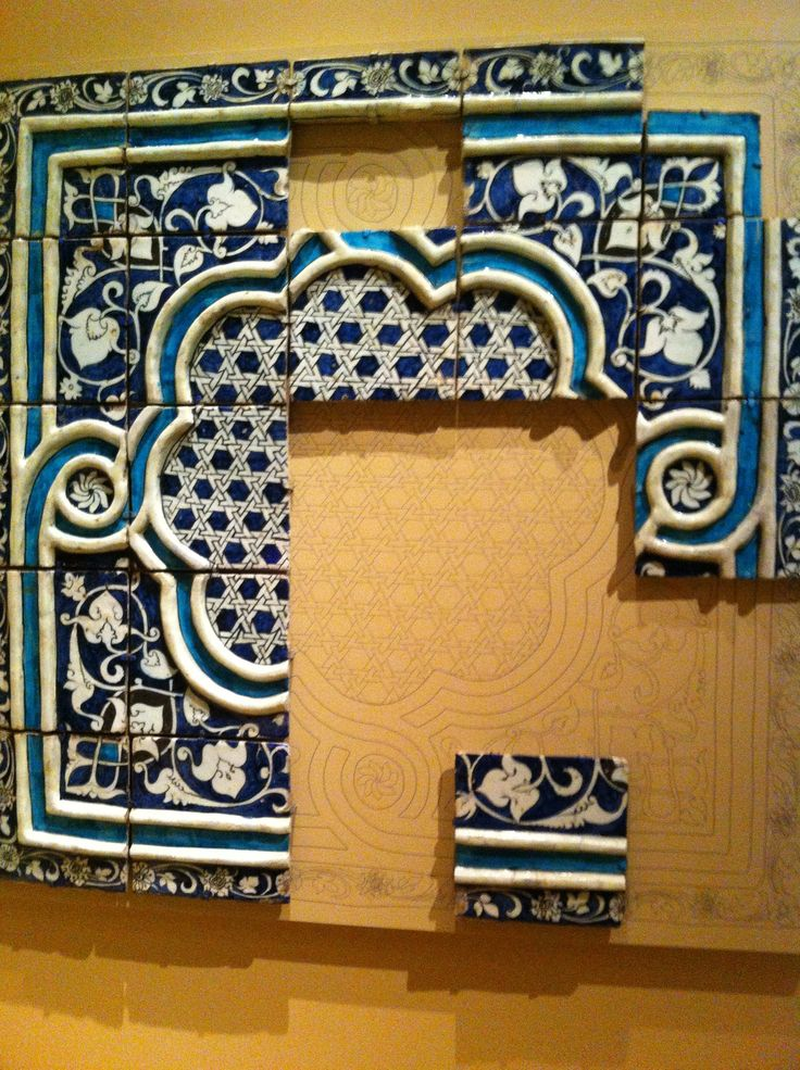 Islamic patterning on Stucco. Metropolitan Museum of Fine Art