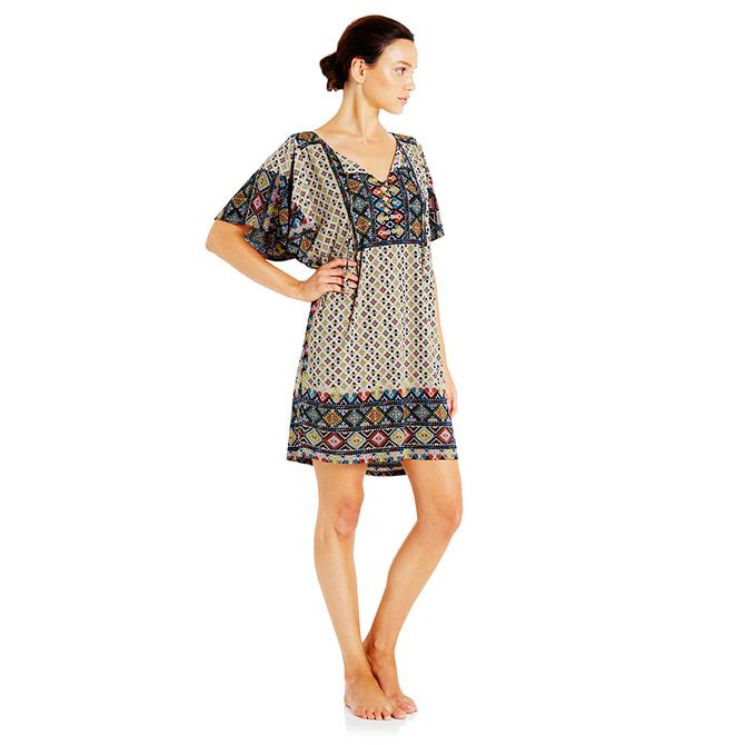 Greek folk textile inspired design in our exclusive vintage poly jersey…