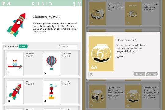 Ejemplos de cuadernillos. De Cuadernillos Rubio para Ipad --> problemas de matemática y cuadernillos para infantes.