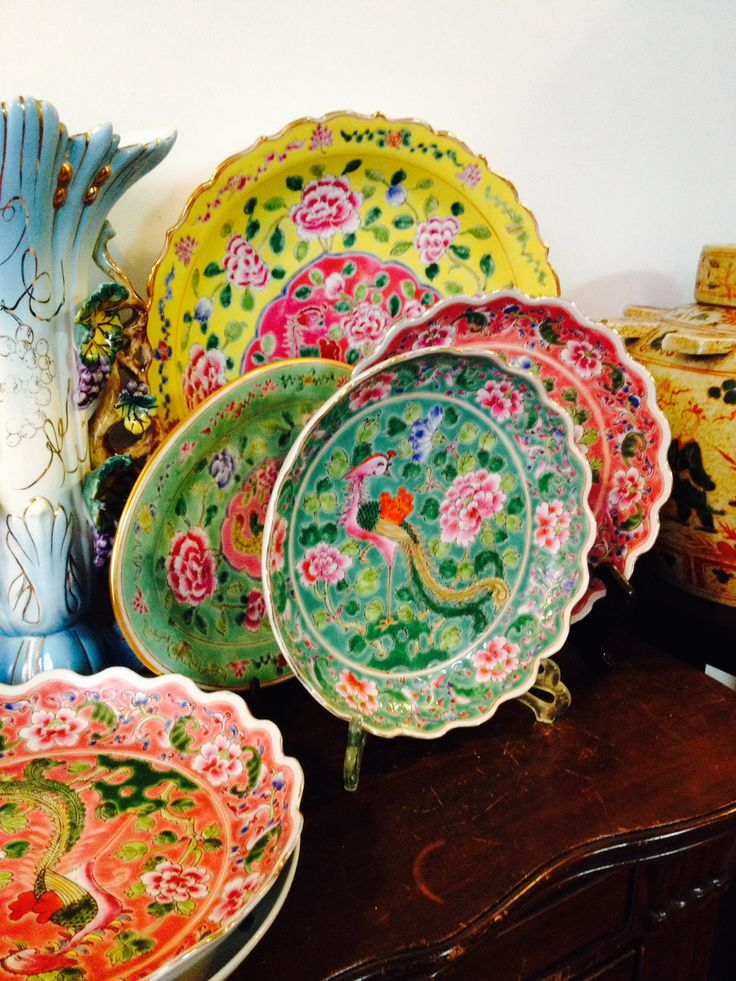 Peranakan Antique  | Peranakan Chinese are the descendants of Chinese immigrants who came to the Malaysia, Singapore (referred as Baba-Nyonya), and Indonesia (referred as Kiau-Seng).