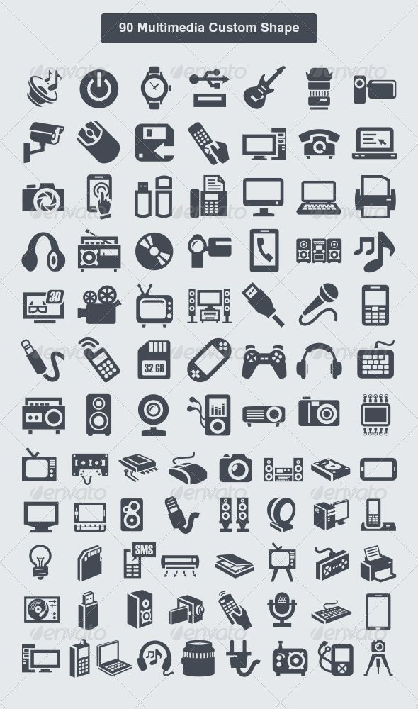 90 multimedia custom shape | multimedia, photoshop and icons