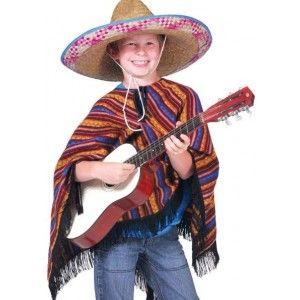 Déguisement poncho mexicain enfant, poncho aux couleurs du Mexique, fêtes, carnaval, Mexique. http://www.baiskadreams.com/1658-deguisement-poncho-mexicain-enfant.html