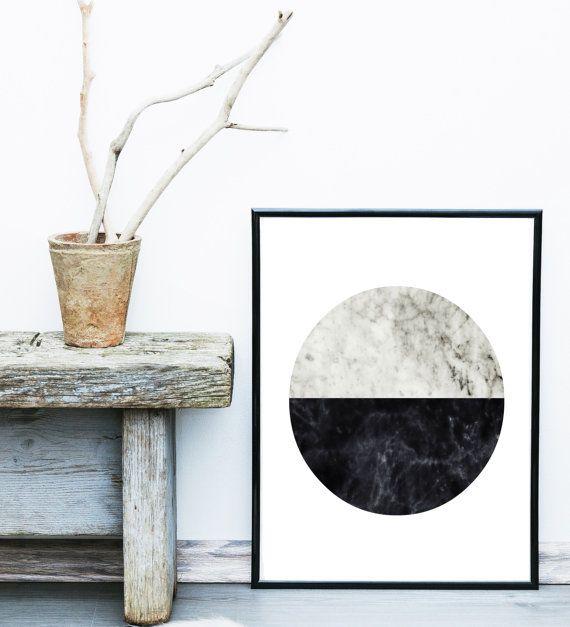 Minimalistische kunst abstracte kunst afdrukken door exileprinted
