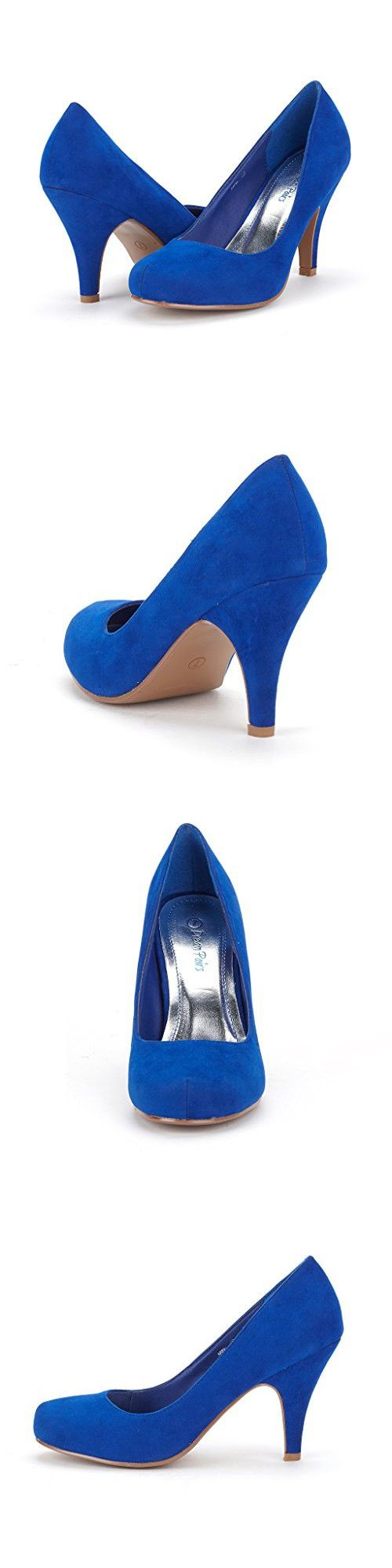 DREAM PAIRS ARPEL Women's Formal Evening Dance Classic Low Heel Pumps Shoes New Royal Blue Size 6