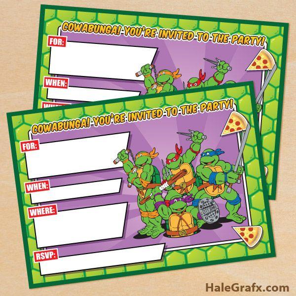 Best 25 Ninja turtle invitations ideas – Ninja Turtle Party Invitation Ideas