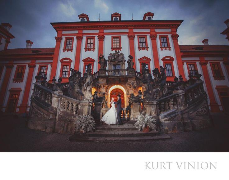 London wedding & Prague pre wedding photographer - luxury weddings Troja Chateau Prague: A&J destination wedding photography at Prague's Troja Chateau. Location: Troja Chateau.