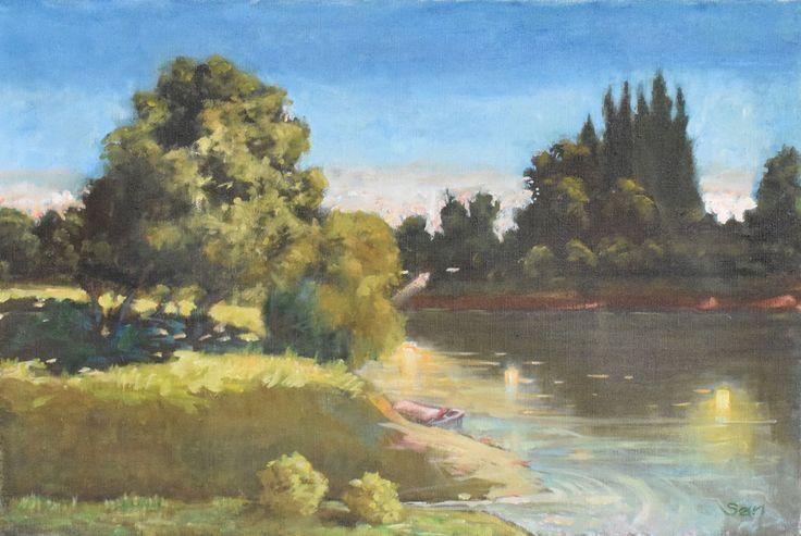 -Torkolat avagy találkozás  - Estuary  - Buluşma  60 x 40 cm oil on canvas