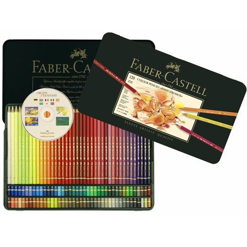 FABER-CASTELL - Färgpennor Polychromos 120-set