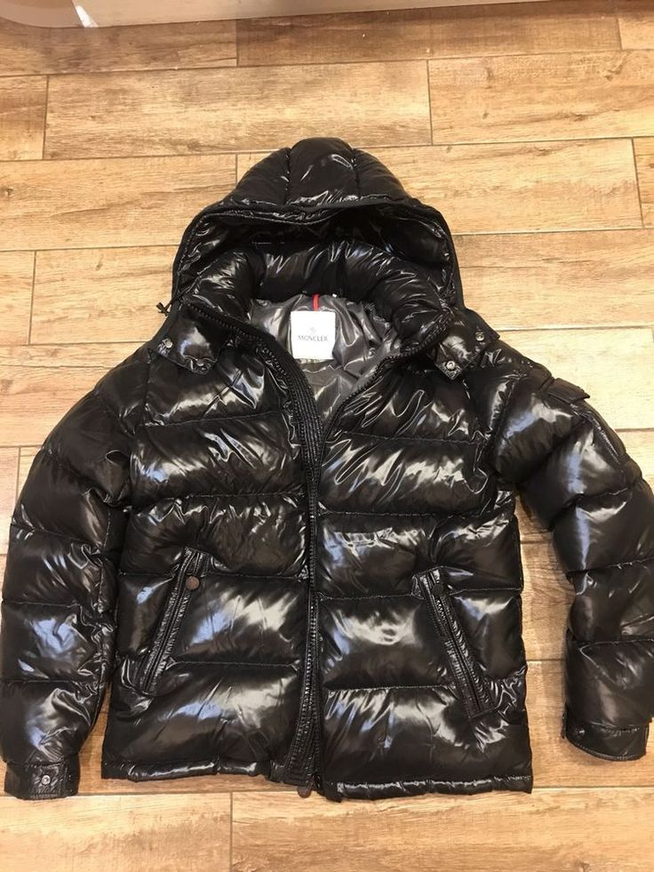 Moncler BLACK Quilted Down Jacket Mens Size 3 (M) Ultra