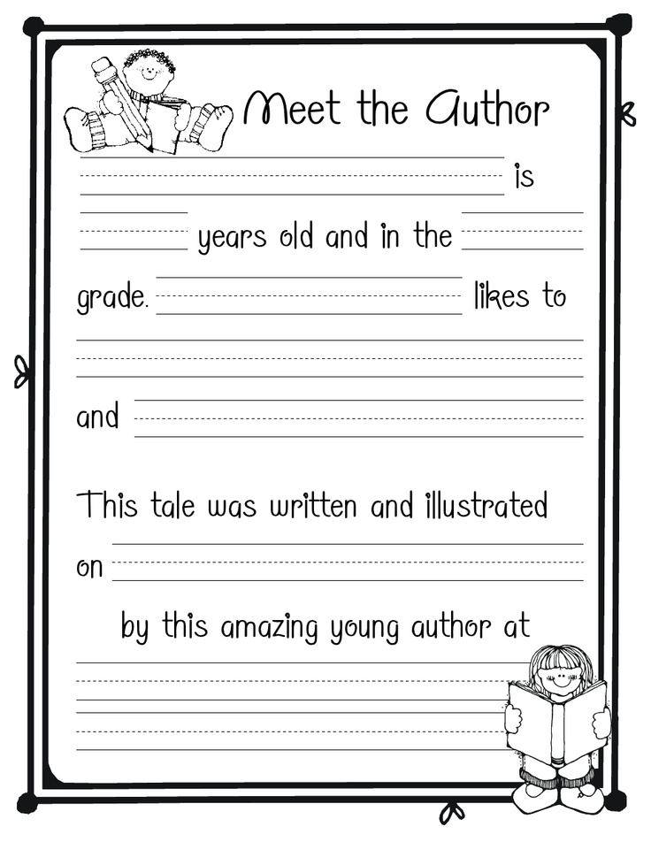 Author page | Placement 2nd grade | Pinterest