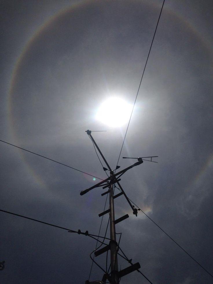 #HaloSolar en #DF #México #SMN vista desde el observatorio meteorológico.