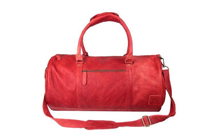 Borsone MAHI in pelle /ventiquattrore / borsa da palestra in rosso veneziano di MAHILeather su Etsy https://www.etsy.com/it/listing/211092084/borsone-mahi-in-pelle-ventiquattrore