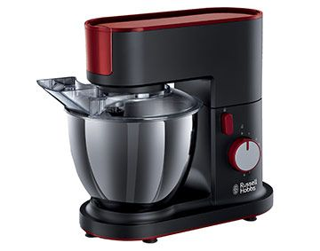 Features/Specifications Product code: 20350-56 Bold Desire colour and modern design Plastic body 700W and planetary mixing action ensure perfect mixing results 4.5L S/S bowl with creamer-beater, dough hook and balloon whisk attachments Includes splashguard and integrated cord storage Tilting head for easy access of bowl and attachments.