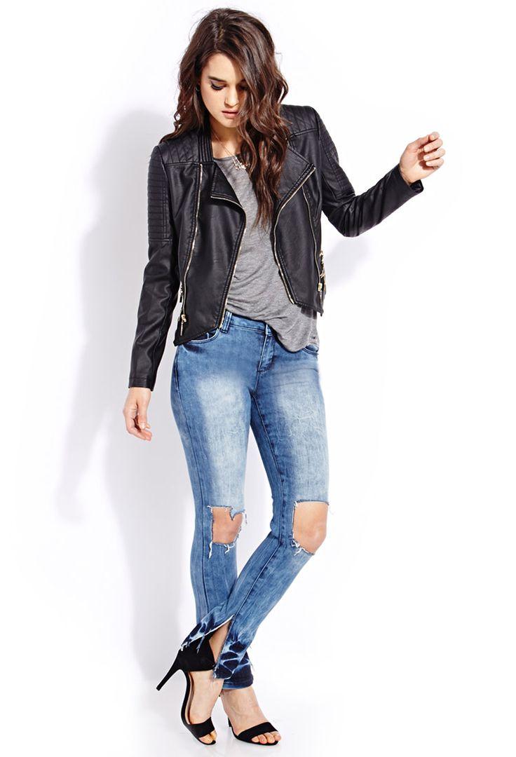 Favorite Faded Skinny Jeans | FOREVER21 Dreaming on denim #Capsule #DestroyedDenim #Skinnies