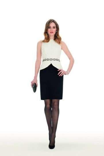 Abiti da cerimonia Luisa Spagnoli 2014 - Vestito Luisa Spagnoli bianco e nero
