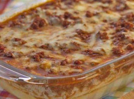 Polenta com carne mo�da ao forno - Veja mais em: http://www.cybercook.com.br/polenta-com-carne-moida.html?codigo=15949