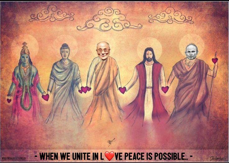 When we unite in love, peace is possible.. - Shikoba WILD WOMAN SISTERHOODॐ #WildWomanSisterhood #love #peace #unitingtheworld #wildwomanmedicine #embodyyourwildnature #themasters #dalialama #thichnhathanh #buddha