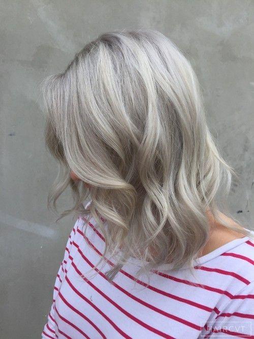 ash blonde lob bob - Google Search