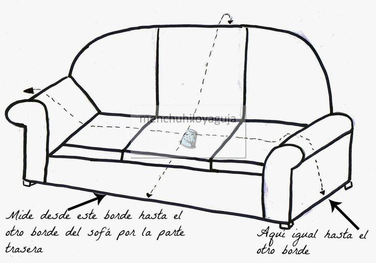 PATRONES DE COSTURA : CÓMO MEDIR UN SOFÁ PARA CONFECCIONAR UNA FUNDA