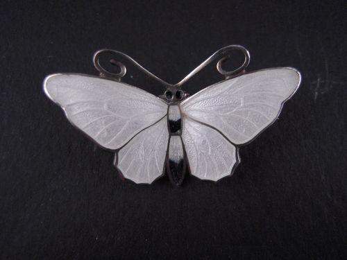 Vintage Sterling Enamel Guilloche Butterfly Pin Aksel Holmsen Norne Norway | eBay