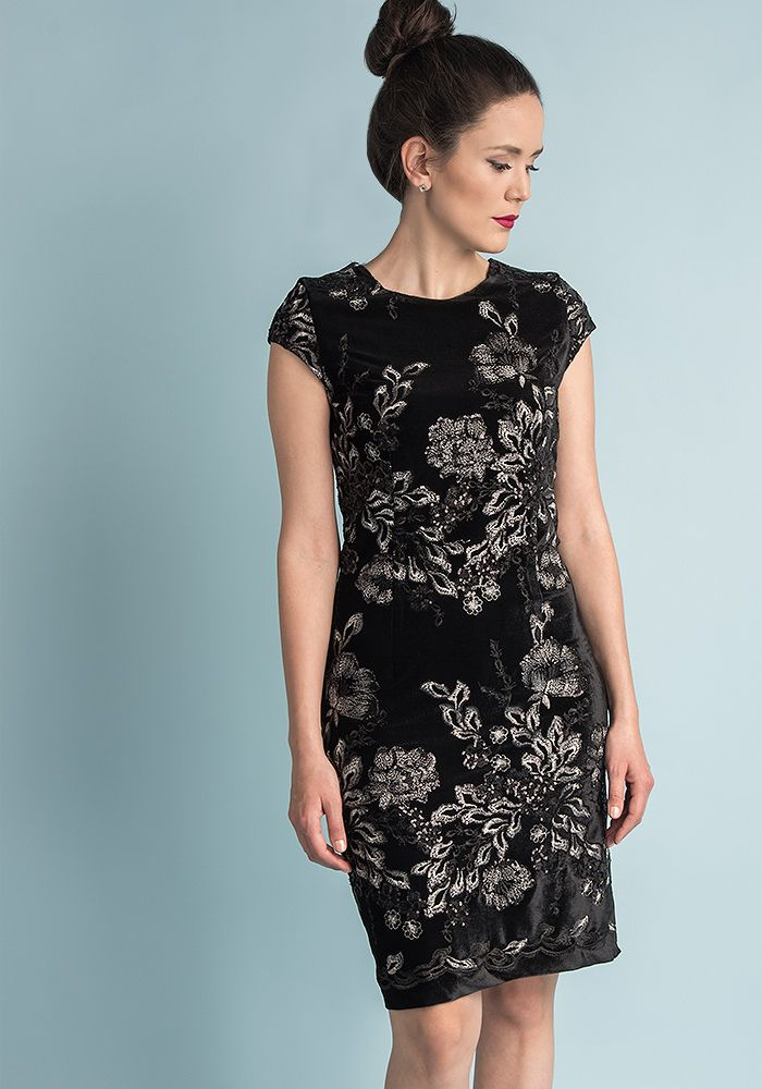 ee23137d4ba Black velvet with silver sequin floral emboidery | Официални модели ...
