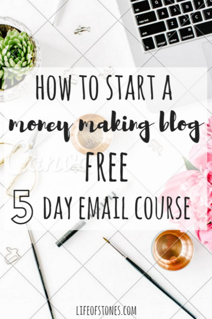 Have you wanted to start your own blog to make money and leave your 9-5? This awesome FREE email course helped me get started in just a few days! www.lifeofstones.com