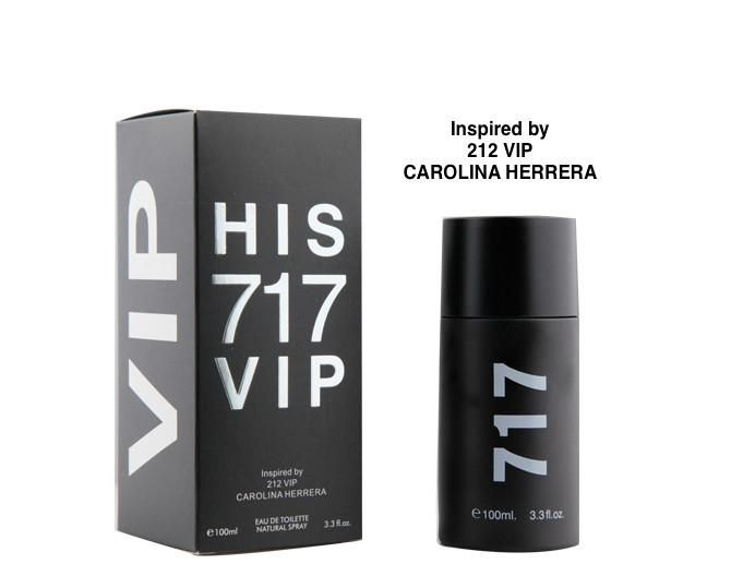 His 717 Vip Eau De Toilette Natural Spray Parfum 100ml 3.3oz Perfume