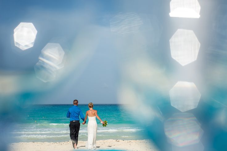 """""""Happily ever after"""" at Sun Palace @palaceresorts photography captured by #DreamArtPhotography #DreamArtWeddings @prweddings #Bride #Groom #JustMarried #Photography #blue #Cancun #Turquoise Special thanks to @prweddings"""