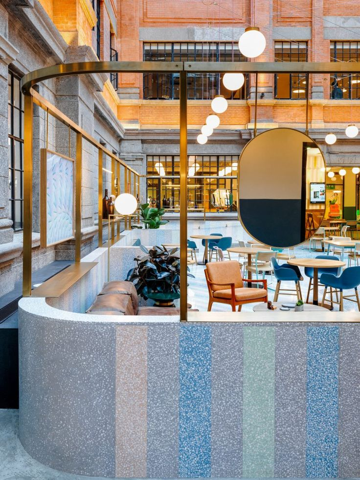 WeWork Weihai Lu by Winehouse Good tasteful use of color and texture.