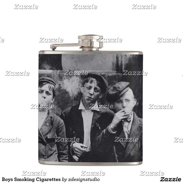 Boys Smoking Cigarettes