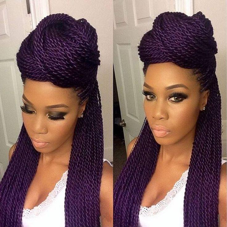 Fierce purple braid!