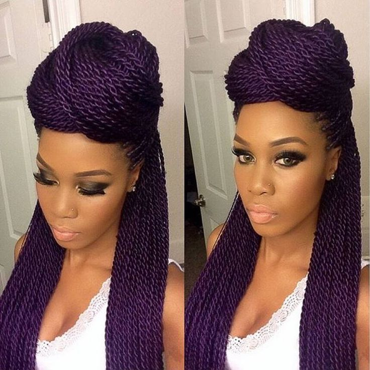 Cool 1000 Ideas About Senegalese Twists Purple On Pinterest Hairstyles For Women Draintrainus