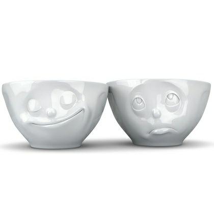 2 Hvide skåle - Mange anvendelses muligheder