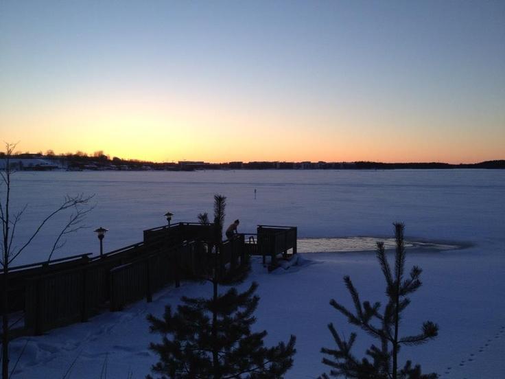 Winter swimming in Lappeenranta