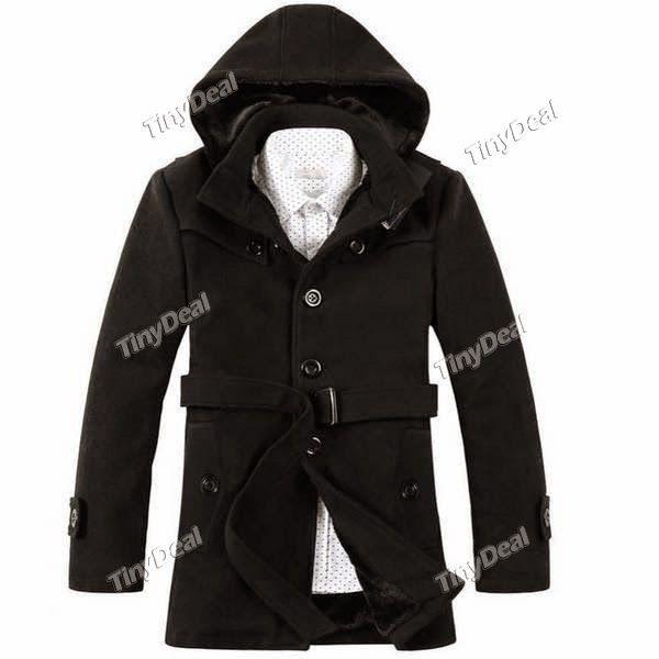 Интернет - магазины : Мужская верхняя одежда, модное зимнее пальто с рем...
