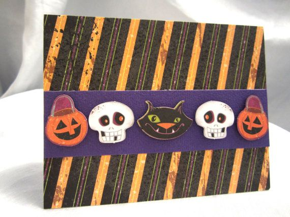 Spooky Little Trick or Treaters Card by WistfulWhimsyDesigns, $1.75