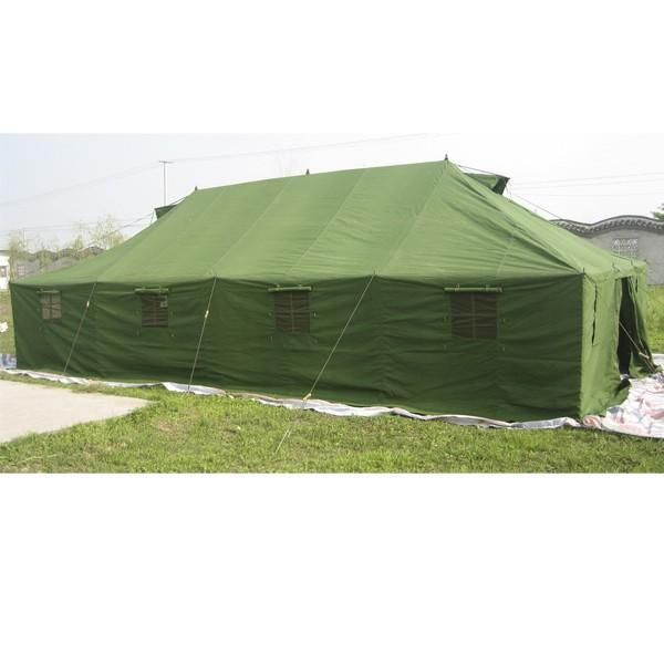 Swedish Army Large Canvas Tent 10 x 4.8 m – Olive