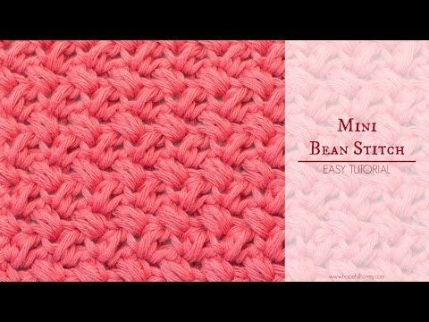 How To Crochet The Mini Bean Stitch - Easy Tutorial - Crochet Stitches!