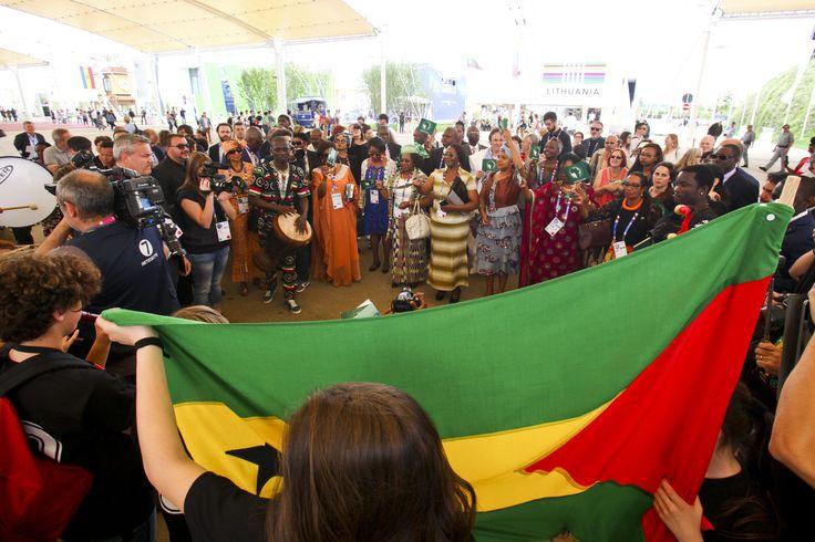 Una marcia per l'Africa Day di Expo Milano 2015