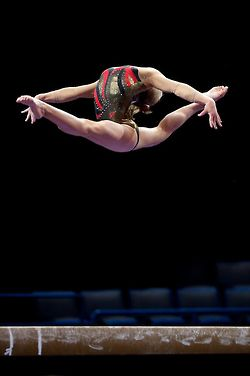 It's just amazing to gymnasts when you can't see a girls head on a leap... To other girls it's horrifying or hilarious... I find it amazing