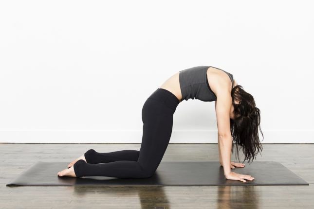 7 Yoga Poses to Undo the Damage of Sitting at a Desk All Day via Brit + Co