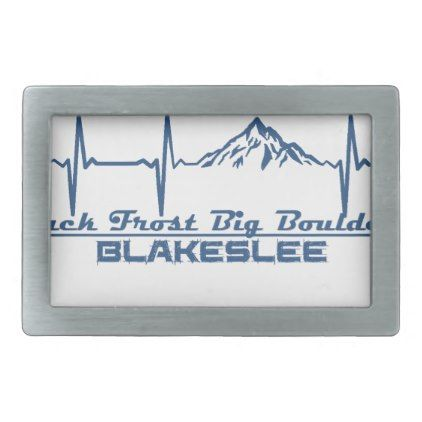 Jack Frost Big Boulder  -  Blakeslee - Pennsylvani Belt Buckle - accessories accessory gift idea stylish unique custom
