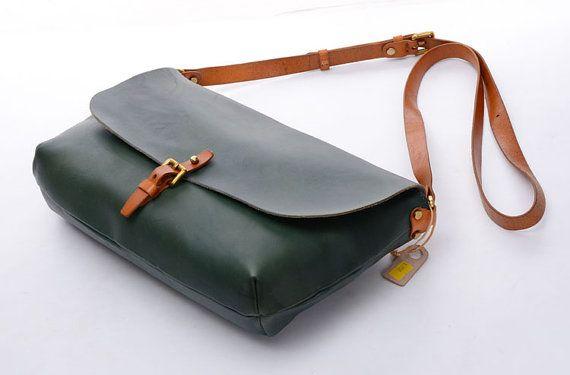 """10 """"Damen grün Vintage echt Leder Crossbody Sling Handtaschen Damen Schulter Schulranzen, Damen umhüllen Taschen, Clutches, Ipaid Mini Fällen"""