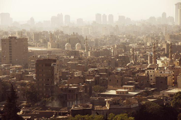 Uitzicht op Caïro de hoofdstad van Egypte. #cairo #egypte