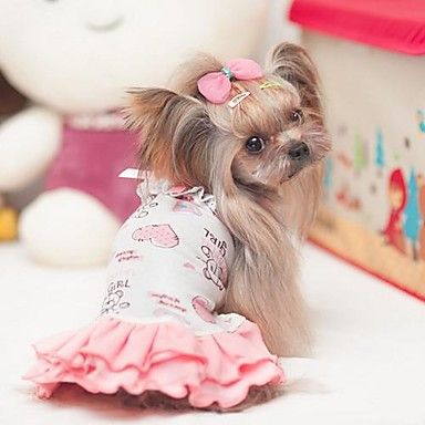 Cute+Bear+Pattern+Dress++for+Pets+Dogs++(Pink,Assorted+Sizes)++-+USD+$+16.89